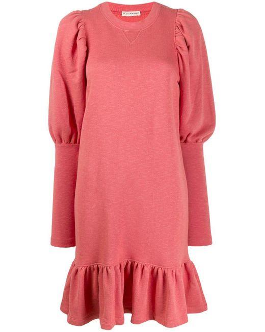 Ulla Johnson ラッフル シフトドレス Pink