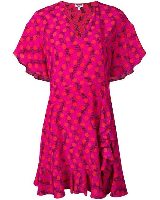 KENZO Wave ポルカドット ドレス Pink