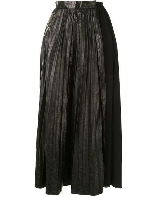 N°21 プリーツ スカート Black