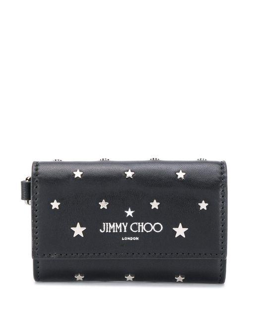 Porte-clés Niki à rabat boutonnée Jimmy Choo pour homme en coloris Black