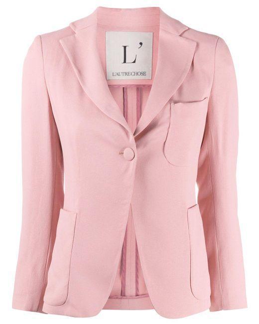L'Autre Chose クレープ ジャケット Pink