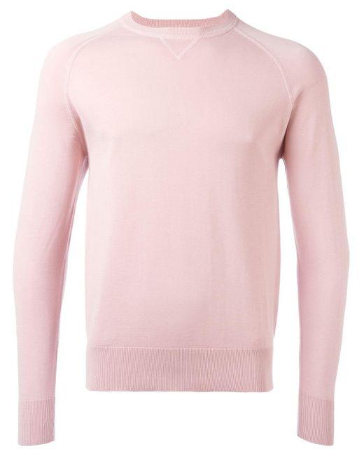 Aspesi Crew-neck Jumper in het Pink voor heren