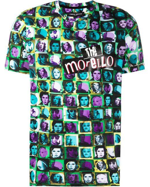メンズ Frankie Morello グラフィック Tシャツ Blue