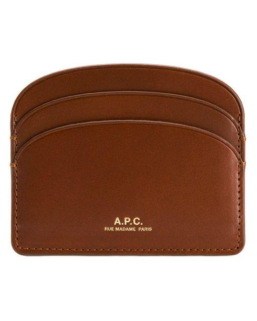 Футляр Для Карт С Логотипом A.P.C., цвет: Brown