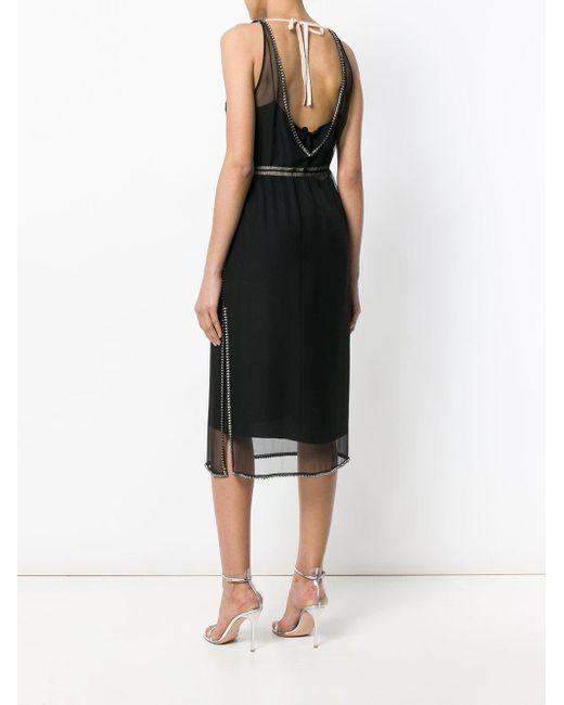 N°21 Embellished Sheer Overlay Dress Black