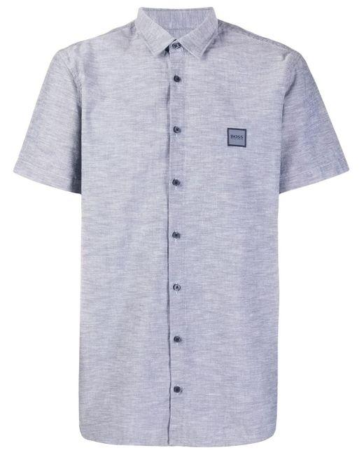 メンズ BOSS ロゴ ショートスリーブシャツ Blue