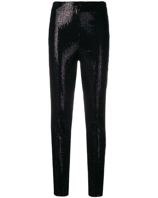 d63c17064b Plein Sud - Black Sequin Skinny Trousers - Lyst ...