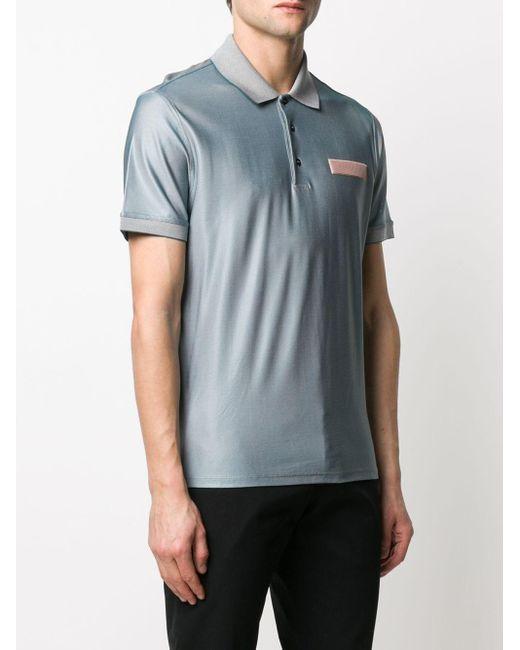 メンズ Givenchy ロゴ ポロシャツ Blue