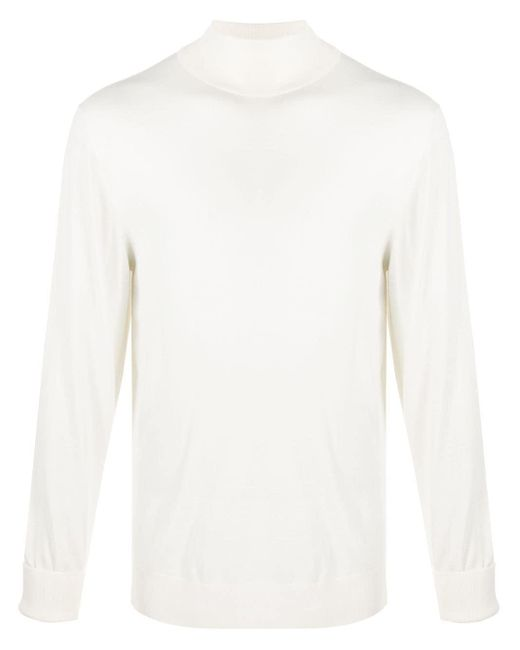 メンズ Eleventy タートルネック セーター White