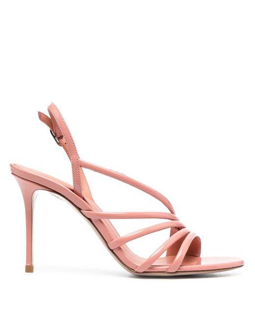 Le Silla Pink Scarlet 110 Slingback Sandals