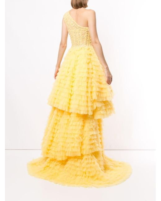 Saiid Kobeisy フレアドレス Yellow