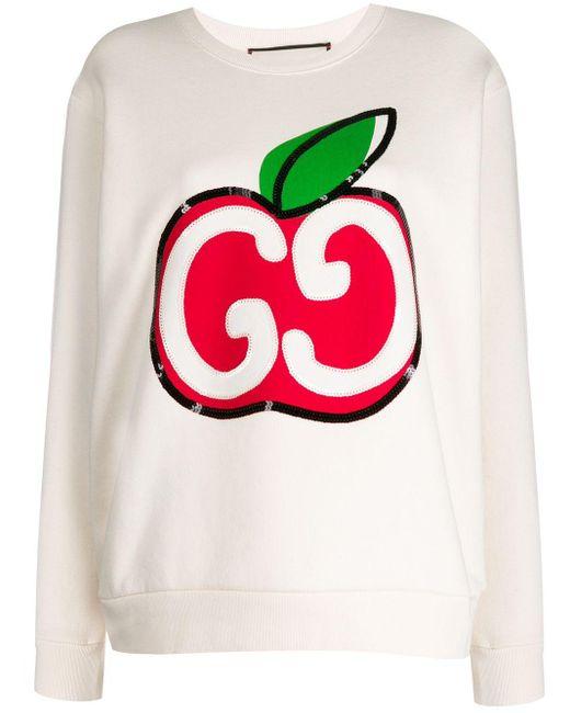 Gucci Multicolor Apple Gg Sweatshirt
