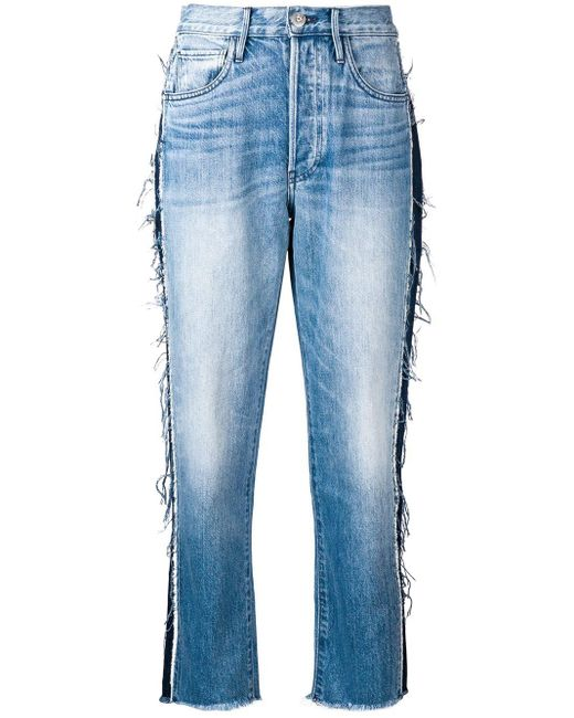 3x1 Blue High Rise Cropped Jeans