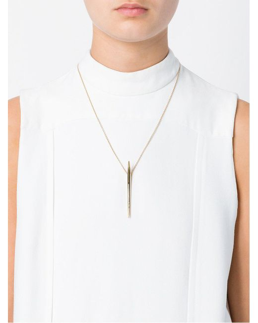 Shaun Leane Metallic Long Quill Necklace