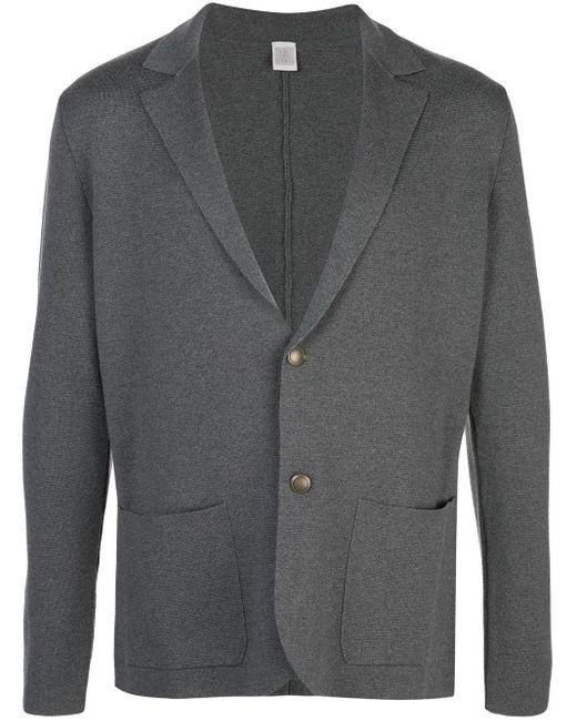 メンズ Eleventy ニットジャケット Gray