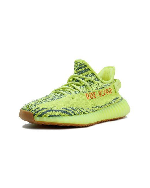 wholesale dealer 5b600 79ea7 Women's Green Adidas X Yeezy Boost 350 V2 Semi Frozen Yellow