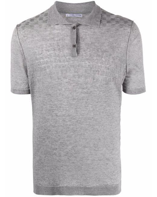 メンズ Grey Daniele Alessandrini チェック リネン ポロシャツ Gray
