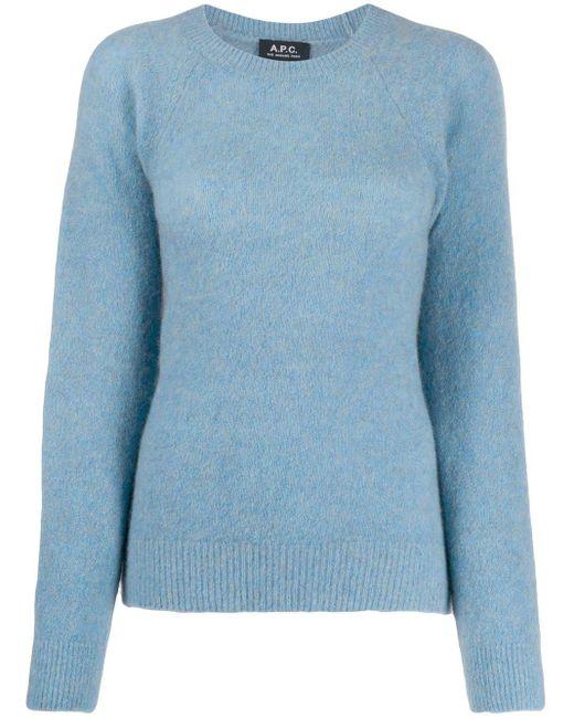 A.P.C. ラウンドネック セーター Blue