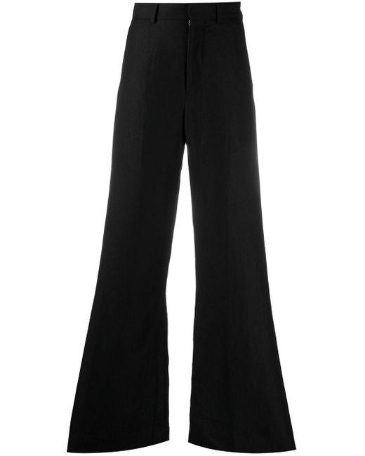 Pantalones de vestir acampanados AMI de color Black
