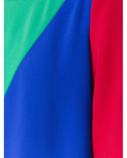 Boutique Moschino カラーブロック ラッフルワンピース Multicolor