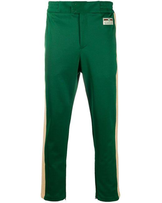 Спортивные Брюки С Лампасами Gucci для него, цвет: Green