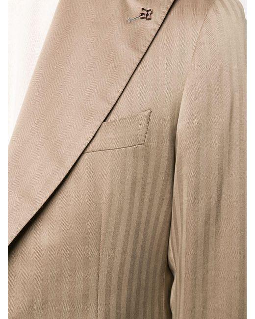 メンズ Tagliatore ストライプ スーツ Natural
