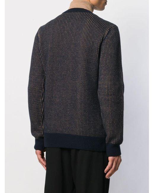 メンズ A.P.C. バイカラー セーター Blue