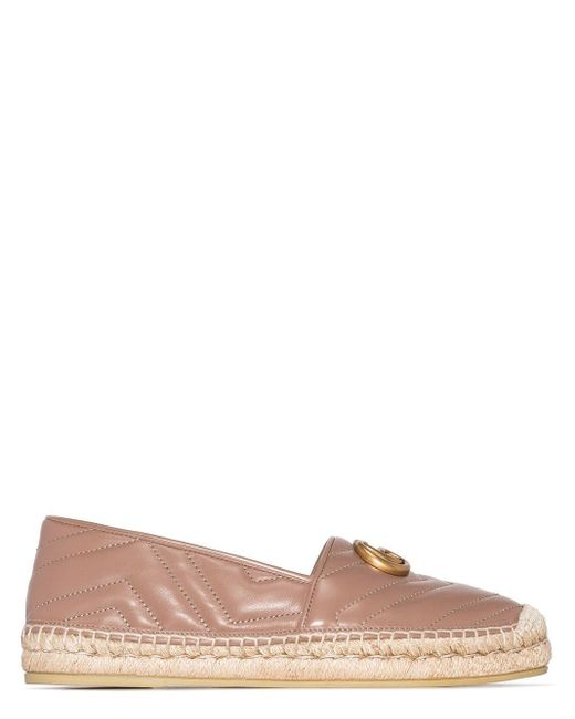 Gucci Brown Pilar Quilted Leather Espadrilles