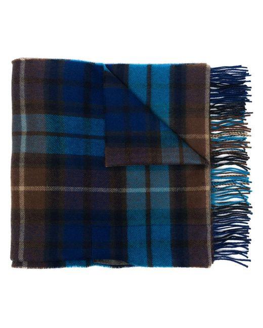 メンズ Comme des Garçons チェックケープ スカーフ Blue