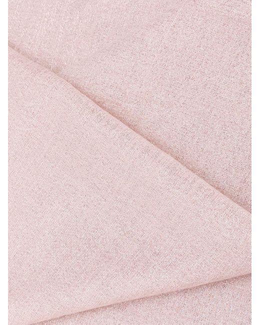 Brunello Cucinelli メタリック スカーフ Pink