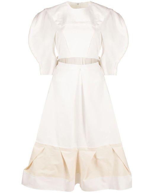 Comme des Garçons カットアウト ドレス White