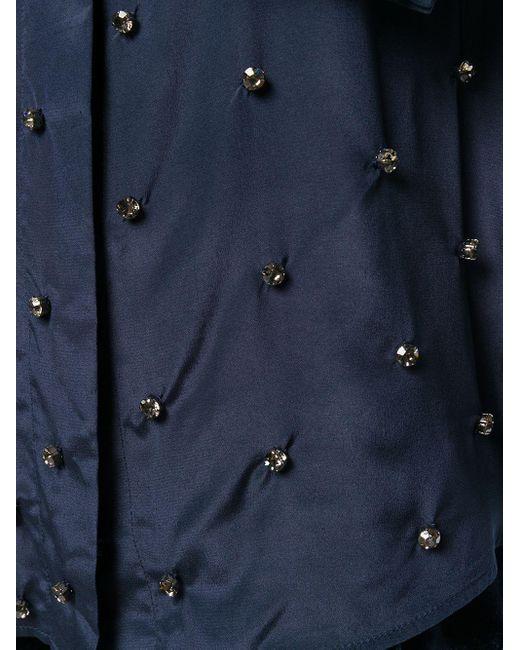Erika Cavallini Semi Couture ビジュー シャツ Blue