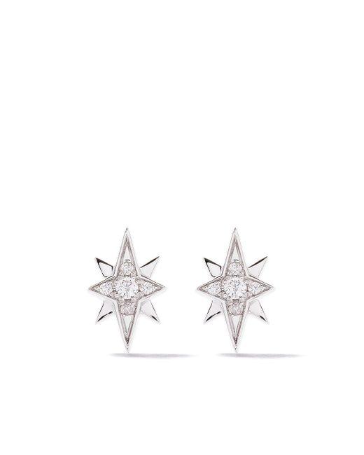 AS29 Essentials North Star ダイヤモンド ピアス 18kホワイトゴールド Multicolor