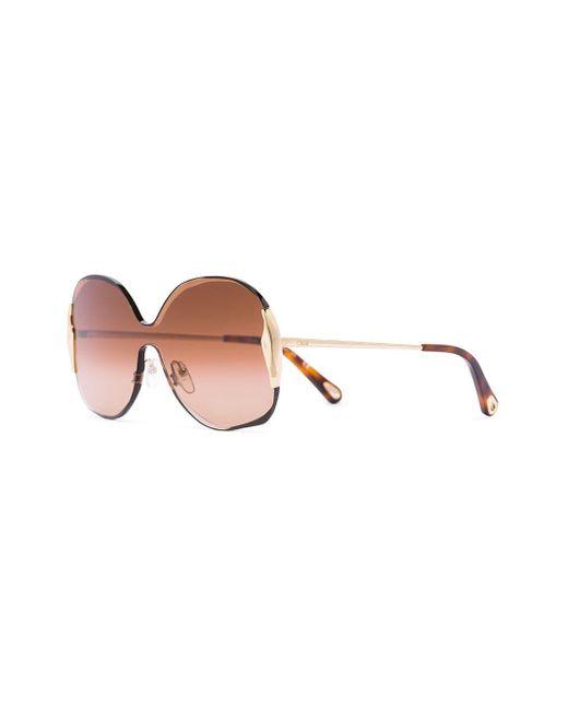 Gafas de sol Curtis Chloé de color Brown