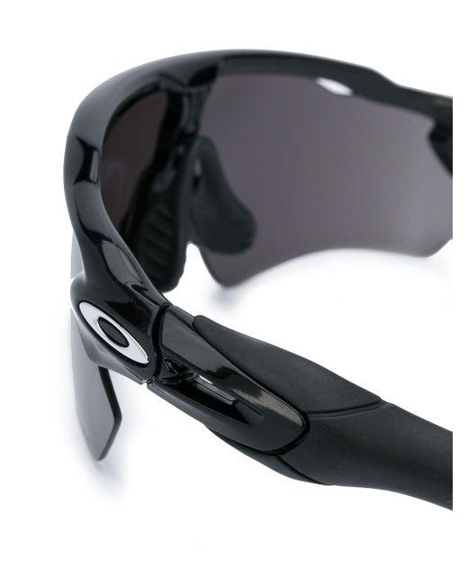 メンズ Oakley オーバーサイズ サングラス Black