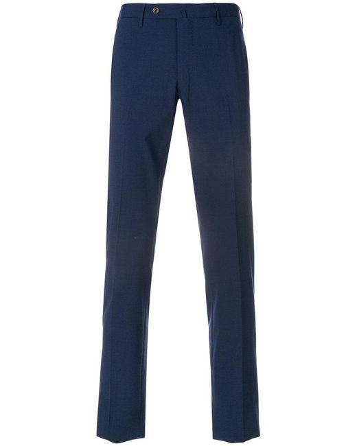 straight-leg trousers - Blue PT01 PYDujh