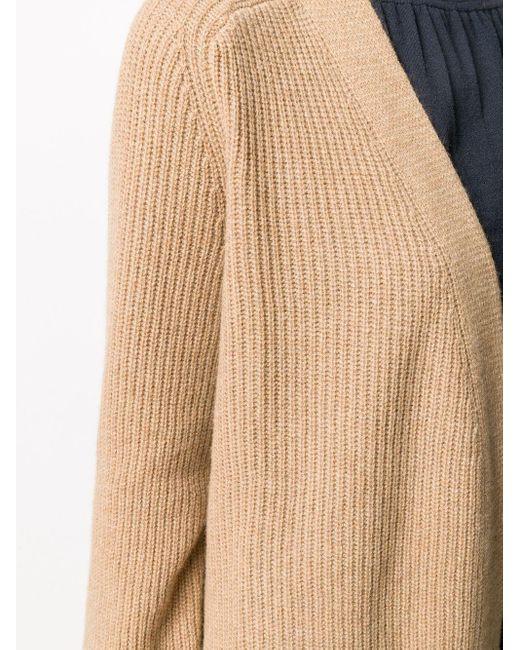 Polo Ralph Lauren オープンフロント ロングカーディガン Brown