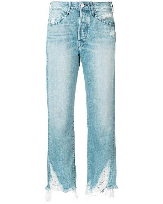 3x1 | Blue Cropped Pants | Lyst