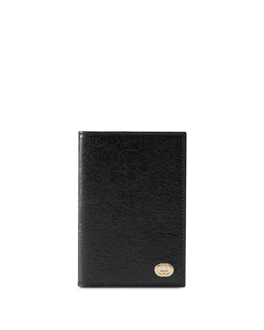 メンズ Gucci ロゴ パスポートケース Black