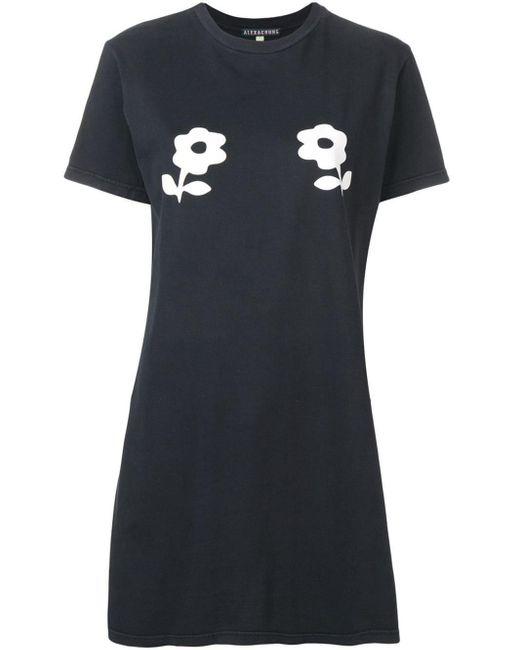 AlexaChung フローラル Tシャツ Black