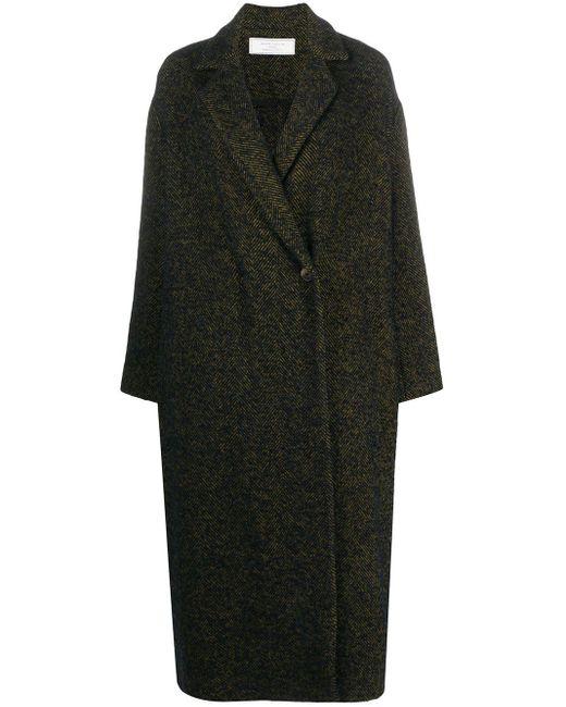 Societe Anonyme ヘリンボーン コート Black
