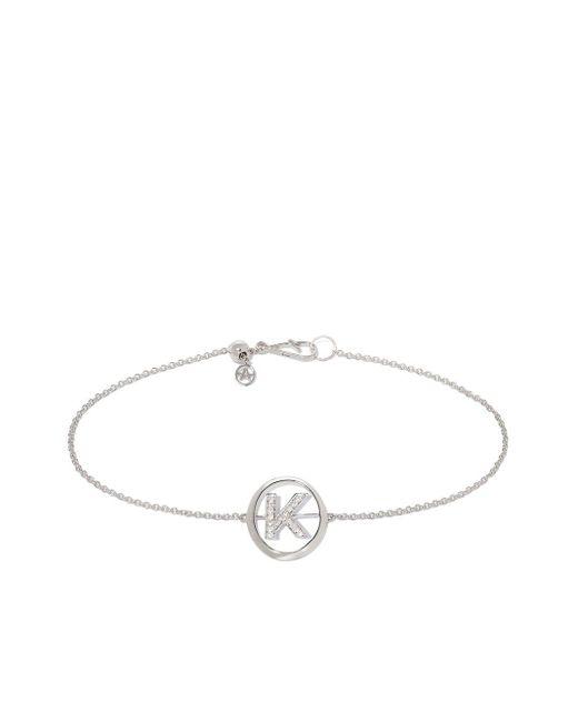 Annoushka Metallic Armband mit K-Initiale