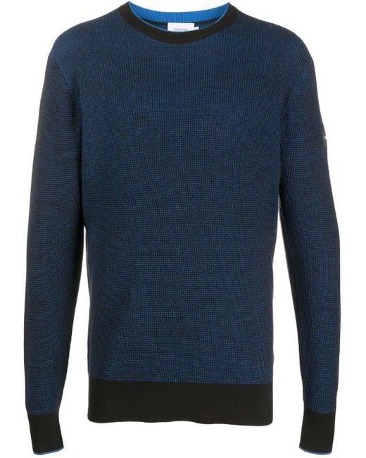 メンズ Calvin Klein ロングスリーブ プルオーバー Blue