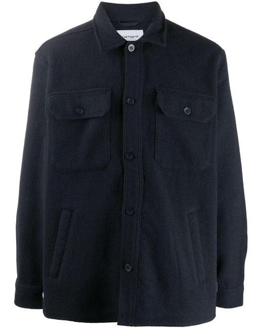 メンズ Carhartt WIP ロゴパッチ シャツジャケット Blue