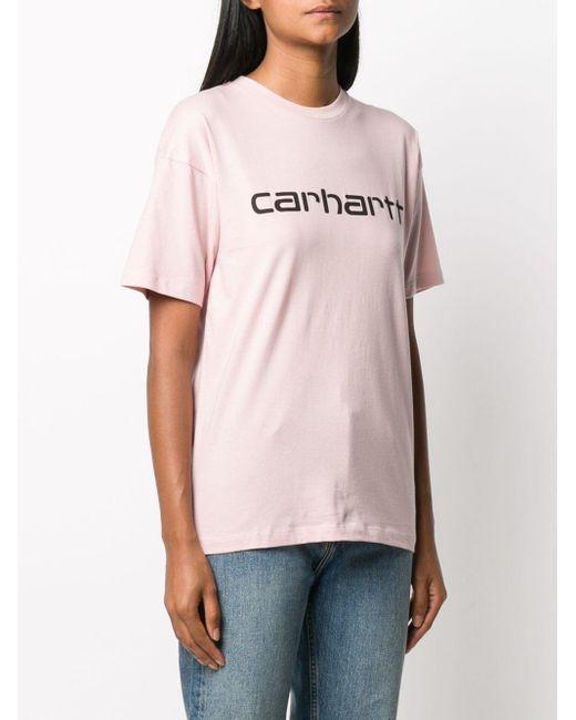 Carhartt WIP ロゴ Tシャツ Pink