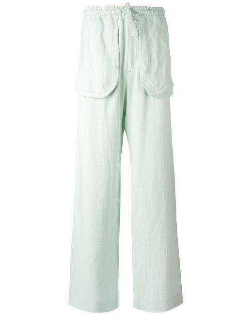 Qasimi - Green External Pockets Straight Trousers for Men - Lyst