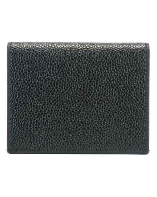 Thom Browne Black Striped Detailing Wallet for men