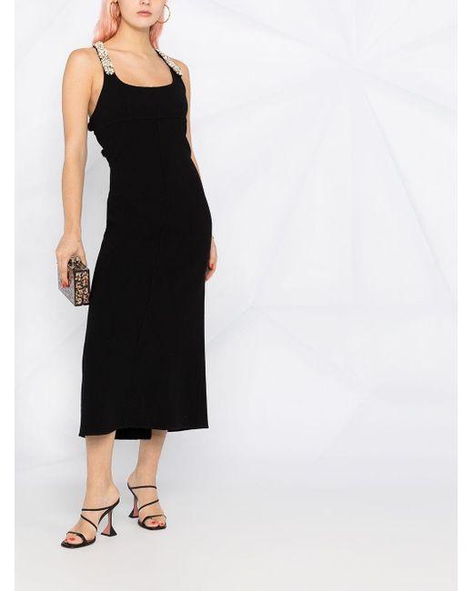 Lanvin ビーズトリム ドレス Black