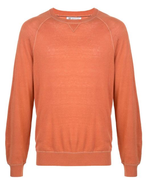 メンズ Brunello Cucinelli スウェットシャツ Orange