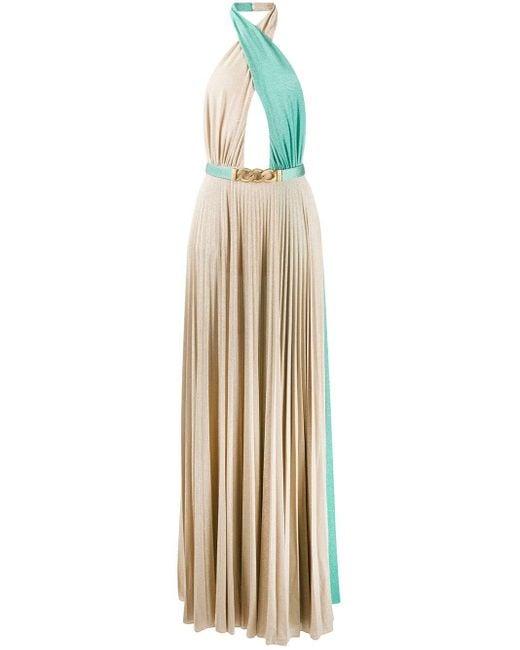Elisabetta Franchi オープンバック ドレス Multicolor